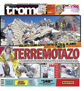Trome Norte en PerúQuiosco